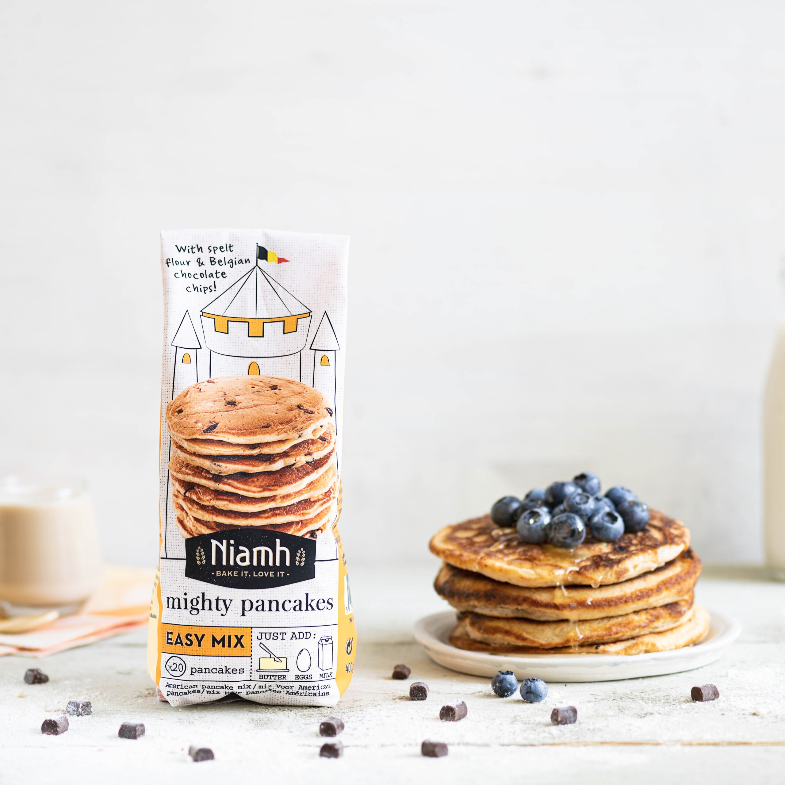 Niamh bake mixes pancakes
